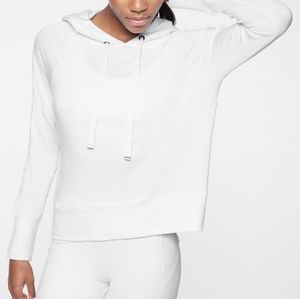 Athleta Open Hearted Hoodie White